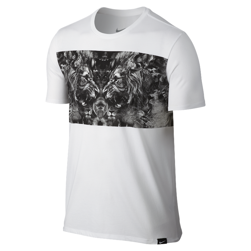 8b0a69bf Nike LeBron Lion Men's T-Shirt - White   806566-100   FOOTY.COM