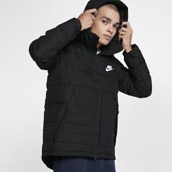 Мужская куртка с пуховым наполнителем Nike SportswearМужская куртка Nike Sportswear с пуховым наполнителем и регулируемым «водолазным» капюшоном обеспечивает тепло и дополнительную защиту в холодную погоду.<br>