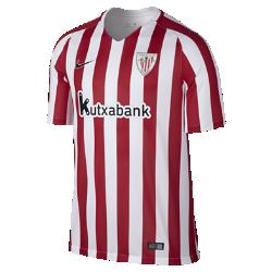 Мужское футбольное джерси 2016/17 Athletic Club Bilbao Stadium HomeМужское футбольное джерси 2016/17 Athletic Club Bilbao Stadium Home из легкой ткани обеспечивает комфорт на каждый день.<br>