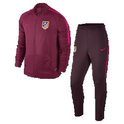 Мужской футбольный комплект для разминки Atletico de MadridМужской футбольный комплект для разминки Atletico de Madrid включает куртку и облегающие брюки из влагоотводящей ткани для абсолютного комфорта на поле и за его пределами.<br>