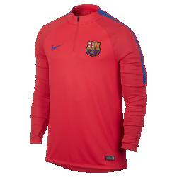 Мужская футболка для футбольного тренинга с молнией 1/4 FC Barcelona SquadМужская футболка для футбольного тренинга с молнией 1/4 FC Barcelona Squad обеспечивает комфорт и свободу движений во время тренировки и разминки благодаря влагоотводящейткани и эргономичным характеристикам.<br>