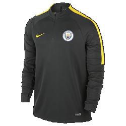 Мужская игровая футболка с длинным рукавом и молнией 1/4 Manchester City FC DrillМужская игровая футболка с длинным рукавом и молнией 1/4 Manchester City FC Drill разработана для тренинга и разминки на поле.<br>