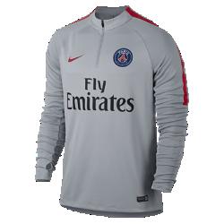 Мужская игровая футболка с длинным рукавом и молнией 1/4 Paris Saint-Germain DrillМужская игровая футболка с длинным рукавом Paris Saint-Germain Drill разработана для тренинга и разминки на поле.<br>