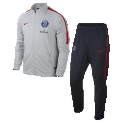 Мужской футбольный комплект для разминки Paris Saint-Germain SquadМужской футбольный комплект для разминки Paris Saint-Germain Squad состоит из куртки и спортивных брюк с зауженными штанинами для абсолютной свободы движений на поле.<br>