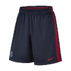 Мужские футбольные шорты Paris Saint-Germain SquadМужские футбольные шорты Saint-Germain Squad из влагоотводящей сетки с боковыми карманами на молнии обеспечивают оптимальный комфорт и надежное хранение важных мелочей.<br>