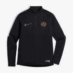 Футболка для футбольного тренинга с длинным рукавом и молнией 1/4 для школьников Paris Saint-GermainИгровая футболка для школьников с длинным рукавом и молнией 1/4 Paris Saint-Germain создана для тренинга и разминки на поле.<br>