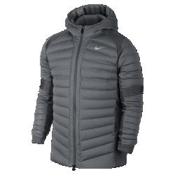 Мужская баскетбольная куртка Nike Aeroloft HybridМужская баскетбольная куртка Nike Aeroloft Hybrid с дышащим наполнителем и вставками из эластичной ткани обеспечивают защиту от холода без перегрева и комфорт во время игры на уличной площадке в холодную погоду.<br>