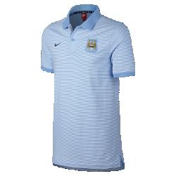 Мужская рубашка-поло Manchester City FC Authentic Grand SlamМужская рубашка-поло Manchester City FC Authentic Grand Slam с отложным воротником и тканой накладкой на мягком смесовом хлопке выполнена в винтажном стиле команды.<br>
