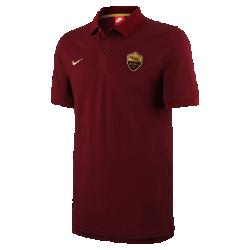 Мужская рубашка-поло из ткани пике A.S. Roma Nike Sportswear Authentic Grand SlamМужская рубашка-поло из ткани пике A.S. Roma Nike Sportswear Authentic Grand Slam с отложным воротником и тканой накладкой на мягком смесовом хлопке создана в винтажном стиле команды.<br>