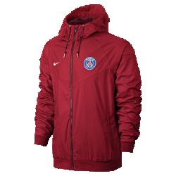 Мужская куртка Paris Saint-Germain Authentic WindrunnerМужская куртка Paris Saint-Germain Authentic Windrunner сохранила классические элементы оригинальной модели: шеврон на груди и прочную ткань, защищающую от непогоды на тренировке икаждый день.<br>