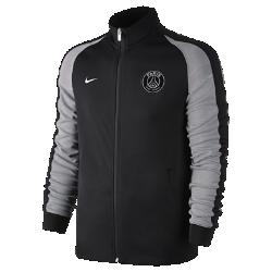 Мужская куртка Paris Saint-Germain Authentic N98Мужская куртка Paris Saint-Germain Authentic N98 создана, чтобы сохранять тепло в прохладную погоду. Элементы дизайна заимствованы у классической куртки для бега.<br>