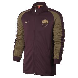 Мужская куртка A.S. Roma Nike Sportswear Authentic N98Мужская куртка A.S. Roma Nike Sportswear Authentic N98 обеспечивает комфорт и защиту от холода благодаря прочной ткани и воротнику-стойке с молнией до подбородка.<br>