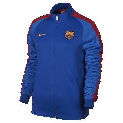 Женская куртка FC Barcelona Nike Sportswear Authentic N98Женская куртка FC Barcelona Nike Sportswear Authentic N98 обеспечивает комфорт и защиту от холода благодаря прочной ткани и воротнику-стойке с молнией до подбородка.<br>