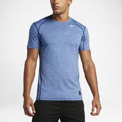 Мужская футболка для тренинга с коротким рукавом Nike ProМужская футболка для тренинга с коротким рукавом Nike Pro из влагоотводящей ткани с компрессионной посадкой обеспечивает зональную поддержку и комфорт во время тренировки.<br>