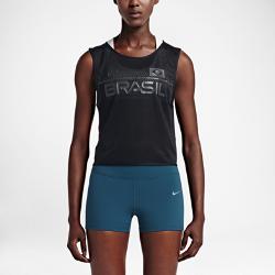 Женская майка для бега Nike Dry BrazilПредставляй свою команду в женской майке для бега Nike Dry Brazil из влагоотводящей ткани, которая позволит тебе полностью сконцентрироваться на беге. Невероятный комфорт  Ткань с технологией Nike Dri-FIT отводит влагу от кожи, обеспечивая комфорт по мере увеличения интенсивности пробежки.  Важные мелочи всегда в сохранности  Боковой карман на молнии для надежного хранения мелочей.  Стань заметнее  Светоотражающие элементы делают тебя заметнее в темное время суток<br>