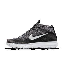 Мужские кроссовки для гольфа Nike Flyknit ChukkaГибкие и воздухопроницаемые мужские кроссовки для гольфа Nike Flyknit Chukka обеспечивают динамическую адаптивную поддержку стопы и воздухопроницаемость. Подошва средней толщины и эластичный материал верха, который облегает стопу, как носок, создают яркий стиль и предотвращают попадание мелких камней в обувь.  Максимальная поддержка  Легкий и прочный материал Flyknit повторяет все изгибы стопы, обеспечивая абсолютную поддержку.  Воздухопроницаемость и защита  Накладки, выполненные по технологии NikeSkin, не только защищают от влаги, но и обладает отличной воздухопроницаемостью.  Естественная гибкость  Подметка в стиле Nike Free с эластичными желобками позволяет лучше чувствовать поверхность и двигаться естественно.<br>