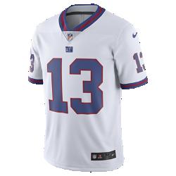 Мужское джерси для американского футбола NFL New York Giants Color Rush Limited (Odell Beckham Jr.)Джерси NFL New York Giants Color Rush Limited обеспечивает превосходную и стильную посадку для болельщиков, привлекающих внимание на стадионе и на улице.  Упругость нитей Flywire  Прочные нити Flywire сохраняют форму области воротника, обеспечивая прочность и отличную посадку.  Специальные зоны вентиляции  Оптимальная вентиляция в зонах максимального тепловыделения.<br>