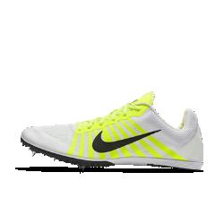 Шиповки унисекс для бега на средние дистанции Nike Zoom DШиповки унисекс Nike Zoom D для бега на длинные дистанции обеспечивают воздухопроницаемость и комфорт во время бега благодаря сетке Engineered mesh и амортизирующему пеноматериалу Cushlon. Подошва Pebax&amp;#174;с разделением и пятью шипами обеспечивает оптимальное сцепление и плавность движений.<br>