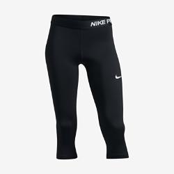 Капри для тренинга для девочек школьного возраста Nike ProКапри для тренинга для девочек школьного возраста Nike Pro из легкой влагоотводящей ткани с сетчатыми вставками обеспечивают поддержку, вентиляцию и комфорт во времятренировки или игры.<br>