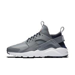 Мужские кроссовки Nike Air Huarache UltraМужские кроссовки Nike Air Huarache Ultra обеспечивают легкость, воздухопроницаемость и комфорт. Эластичный ремешок и резиновый каркас в области пятки создает узнаваемый образ Huarache.<br>