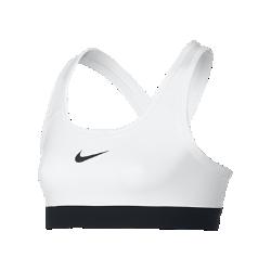 Спортивное бра со средней поддержкой для девочек школьного возраста NikeСпортивное бра со средней поддержкой для девочек школьного возраста Nike с компрессионной посадкой подходит для разных видов спорта.<br>