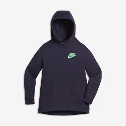 Худи для девочек школьного возраста Nike Sportswear Tech FleeceХуди для девочек школьного возраста Nike Sportswear Tech Fleece из мягкого флиса с удлиненной сзади нижней кромкой обеспечивает комфорт и невесомую защиту от холода.<br>