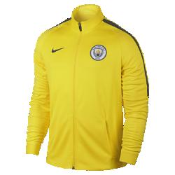 Мужская футбольная куртка Manchester City FC Dry StrikeМужская футбольная куртка Manchester City FC Dry Strike из влагоотводящей ткани не сковывает движений и обеспечивает комфортную защиту на поле.<br>