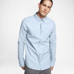 Мужская рубашка с длинным рукавом Nike SB FlexМужская рубашка с длинным рукавом Nike SB Flex из ткани Nike Flex с классическим оксфордским силуэтом и удобной посадкой, не стесняющей движений.<br>