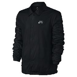 Мужская куртка Nike SB Shield CoachesМужская куртка Nike SB Shield Coaches из дышащего и водоотталкивающего материала обеспечивает комфорт во время катания в непогоду.  Водоотталкивающие свойства  Ткань Nike Shield защищает от ветра и дождя.  Воздухопроницаемая конструкция  Внутренний слой из сетки обеспечивает необходимую воздухопроницаемость для комфорта и предотвращает перегрев.  Регулируемая посадка  Шнурок в нижней кромке позволяет отрегулировать посадку.<br>