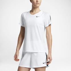 Женская игровая футболка с коротким рукавом Nike DryЖенская игровая футболка с коротким рукавом Nike Dry из дышащей влагоотводящей ткани защищает от перегрева на поле.<br>