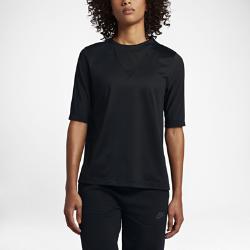 Женская футболка с рукавом до локтя Nike Sportswear BondedЖенская футболка с рукавом до локтя Nike Sportswear Bonded из мягкой хлопковой ткани с сетчатыми вставками обеспечивает длительный комфорт и вентиляцию.<br>