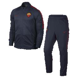 Мужской футбольный комплект для разминки A.S. RomaМужской футбольный комплект для разминки A.S. Roma включает куртку и облегающие брюки из влагоотводящей ткани с эргономичными вставками для непревзойденного комфорта на поле.<br>