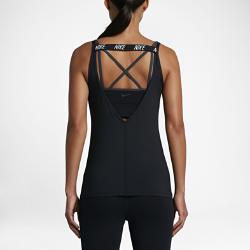 Женская майка для тренинга Nike DryЖенская майка для тренинга Nike Dry из влагоотводящей ткани с открытой спиной обеспечивает длительный комфорт во время тренировки.<br>