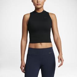 Женская майка для тренинга Nike DryЖенская майка для тренинга Nike Dry из влагоотводящей ткани с укороченным силуэтом обеспечивает вентиляцию и комфорт на каждой тренировке.<br>