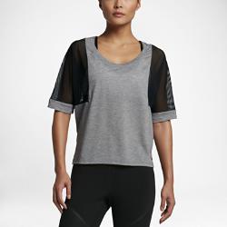 Женская футболка для тренинга с коротким рукавом Nike BreatheЖенская футболка для тренинга с коротким рукавом Nike Breathe из влагоотводящей ткани со вставками из сетки обеспечивает комфорт и вентиляцию во время тренировки.<br>