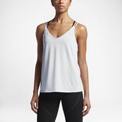 Женская майка для тренинга Nike DryЖенская майка для тренинга Nike Dry из влагоотводящей ткани с тонкими бретелями обеспечивает охлаждение, комфорт и свободу движений на каждой тренировке.<br>