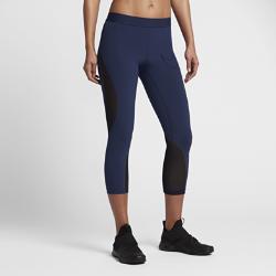 Женские капри для тренинга Nike Pro HyperCool WovenЖенские капри для тренинга Nike Pro HyperCool Woven из воздухопроницаемой ткани со вставками из сетки обеспечивают охлаждение и комфорт во время тренировки.<br>