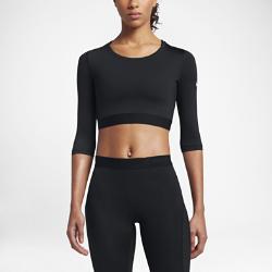 Женская футболка для тренинга Nike Pro HyperCoolЖенская футболка для тренинга Nike Pro HyperCool из дышащей влагоотводящей ткани позволяет добиваться максимальных результатов в самые жаркие моменты.<br>