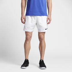 Мужские теннисные шорты NikeCourt Dry 18 смМужские теннисные шорты NikeCourt Dry 18 см обеспечивают свободу движений во время игр и тренировок на высокой скорости.  Комфорт и прохлада  Технология Dri-FIT отводит влагу с кожи на поверхность ткани, где она быстро испаряется, обеспечивая комфорт.  Создано для движения  Боковые вставки из эластичной рубчатой ткани расширяются при движении, обеспечивая свободу движений и демонстрируя яркий цвет.  Абсолютная концентрация  Глубокие боковые карманы для хранения мячей помогают полностью сосредоточиться на игре.<br>