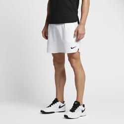 Мужские теннисные шорты из тканого материала NikeCourt Flex 18 смМужские теннисные шорты из легкого и эластичного тканого материала NikeCourt Flex длиной 18 см обеспечивают полную свободу движений во время рывков, прорывов и отраженияатак.  Свобода движений  Кромки с разрезами, эластичная ткань Nike Flex и анатомические швы обеспечивают свободу движений.  Охлаждение  Перфорация по бокам и пояс с сетчатой подкладкой отводят излишки тепла, помогая сохранять ощущение прохлады во время игры.  Полная концентрация  Глубокие боковые карманы для хранения мячей помогают полностью сосредоточиться на игре.<br>
