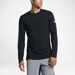 Мужская баскетбольная футболка с длинным рукавом Nike EliteМужская баскетбольная футболка с длинным рукавом Nike Elite из влагоотводящей ткани с эргономичной конструкцией обеспечивает комфорт и естественную свободу движенийво время игры.<br>