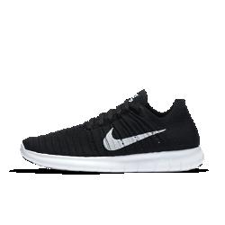Женские беговые кроссовки Nike Free RN FlyknitЖенские беговые кроссовки Nike Free RN Flyknit обладают гибкой подошвой с абсолютно новым рисунком, который позволяет обуви расширяться и возвращаться свою изначальную форму при каждом шаге. Более того, они обеспечивают даже большую амортизацию, чем модель Nike Free RN Motion Flyknit. Плотно обхватывающий стопу верх из материала Flyknit создает непревзойденную посадку и максимальный комфорт во время пробежки.  Естественность движений  Подошва Nike Free нового поколения расширяется в нескольких направлениях благодаря революционному рисунку tri-star, что делает движения стопы более динамичными. Кроме того, скругленная форма пятки повторяет форму стопы и обеспечивает плавность движений.  Мягкая амортизация  Новая подошва создана с использованием более мягкого пеноматериала, чем в любой из предыдущих моделей. Она обеспечивает комфорт, отличную амортизацию и прочностьбез утяжеления.  Великолепная посадка  Практически бесшовный верх Flyknit обеспечивает потрясающе плотную посадку и дополнен специальными зонами для воздухопроницаемости, эластичности и поддержки. Нити Flywire в верхе объединены со шнурками для обеспечения динамической поддержки и естественности движений.  Подробнее  Благодаря неэластичному материалу в области пятки кроссовки дольше сохраняют форму Скругленная пятка обеспечивает естественную свободу движений Легкие вставки из твердой резины в области пальцев и пятки для дополнительного сцепления с поверхностью и прочности Вес: 174 г (женский размер 8) Перепад: 8 мм  Истоки Nike Free  Узнав, что спортсмены Стэнфордского университета тренируются босиком на поле для гольфа, три самых изобретательных и креативных сотрудника Nike взялись за разработку кроссовок, которые бы не ощущались на ноге и сидели, словно вторая кожа. В течение восьми лет специалисты изучали биомеханику стопы во время бега. В результате имудалось рассчитать естественный угол приземления стопы, давление и положение носка, что позволило дизайнерам 