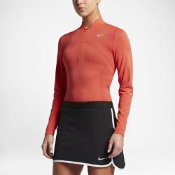 Женская футболка для гольфа с половинной молнией Nike Zonal Cooling Dry KnitЖенская футболка для гольфа с половинной молнией Nike Zonal Cooling Dry Knit из влагоотводящей ткани открытого плетения обеспечивает воздухопроницаемость и длительный комфорт.<br>