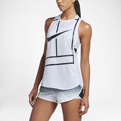 Женская теннисная майка NikeCourtЖенская теннисная майка NikeCourt идеально подходит для интенсивных тренировок в теплую погоду и в качестве базового слоя в прохладные дни, обеспечивая свободу движений и комфорт.<br>