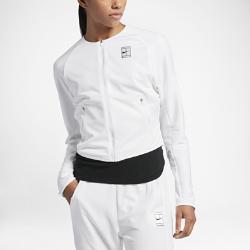 Женская трикотажная теннисная куртка NikeCourtЖенская трикотажная теннисная куртка NikeCourt — это инновационный вариант куртки для разминки, который обеспечивает вентиляцию, комфорт и свободу движений на протяжении всей тренировки.  Свобода движений  Рукава покроя реглан из эластичной рубчатой ткани двойного переплетения обеспечивают полную свободу движений и защиту. Укороченный профиль длиной до бедер не сковывает движения.  Оптимизированное охлаждение  Подкладка в области спины из трикотажной сетки не прилипает к коже, обеспечивая вентиляцию и комфорт.  Комфорт  Технология Dri-FIT обеспечивает превосходную воздухопроницаемость и комфорт, выводя влагу на поверхность ткани и позволяя коже дышать.<br>