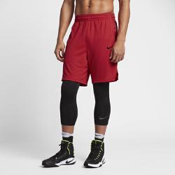Мужские баскетбольные шорты Nike 23 смМужские баскетбольные шорты Nike 23 см из влагоотводящей ткани с разрезами в нижней кромке защищают от влаги, обеспечивают комфорт и не сковывают движений во время игры.<br>
