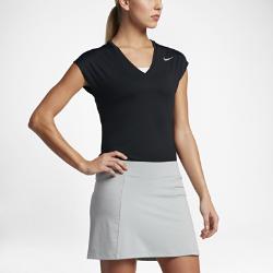 Женская футболка для гольфа с коротким рукавом Nike DryЖенская футболка для гольфа с коротким рукавом Nike Dry из эластичной ткани с сетчатыми вставками обеспечивает абсолютную свободу движений и отличную воздухопроницаемость.<br>