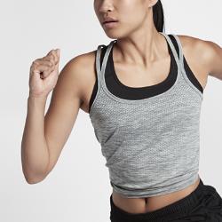Женская беговая майка Nike Dri-FIT KnitЖенская беговая майка Nike Dri-FIT Knit из гладкой ткани с бесшовной конструкцией обеспечивает охлаждение и комфорт во время бега. Открытая конструкция с бретелями и прилегающий крой для свободы движений и абсолютной концентрации.<br>