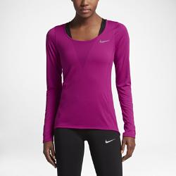 Женская беговая футболка с длинным рукавом Nike RelayЖенская беговая футболка с длинным рукавом Nike Relay обеспечивает воздухопроницаемость и комфорт на любой пробежке благодаря сетке по всей поверхности.<br>