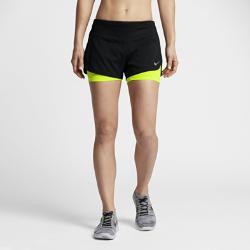 Женские беговые шорты Nike Rival 2-in-1 7,5 смЖенские беговые шорты Nike Rival 2-in-1 7,5 см с боковыми вставками внахлест и вшитыми компрессионными шортами обеспечивают полную свободу движений, защиту и надежную фиксацию во время бега.<br>